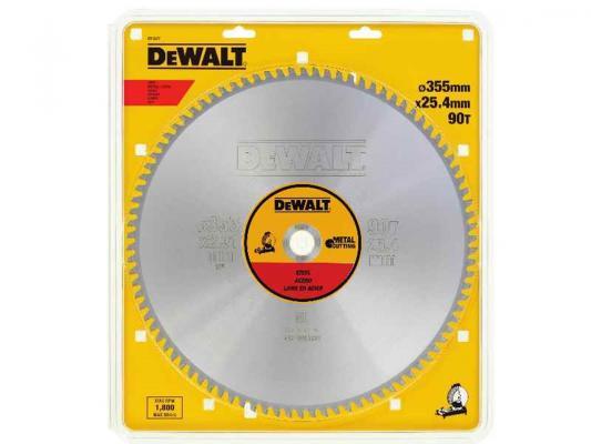 Круг пильный твердосплавный DEWALT DT1927-QZ Ф355/25.4 90 TCG +1.5° EXTREME по стали