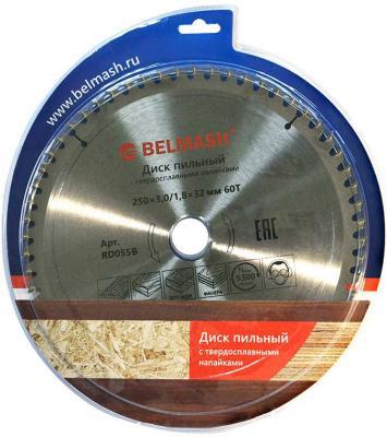 Диск пильный твердосплавный БЕЛМАШ 250х3.0/1.8х32мм 60Т по ламинату