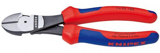Бокорезы силовые KNIPEX 7402180 180мм диагональные, особой мощности,с двухцв многокомп чехлами арматурные клещи особой мощности knipex kn 9910300
