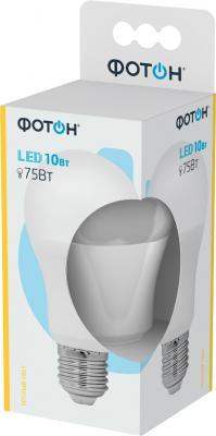 Лампа светодиодная ФОТОН A60 10W E27 3000K лампа светодиодная колба онлайт 388151 gu5 3 7w 3000k