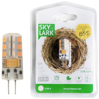 Лампа светодиодная капсульная Skylark B018 G4 2W 2700K лампочка skylark sll c06d1sw202