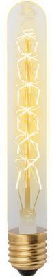 Лампа накаливания UNIEL VINTAGE IL-V-L28A-60/GOLDEN/E27 CW01 E27 60Вт колбаL28A форма нитиCW01 uniel tac 12cpa v