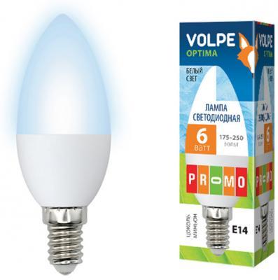 Лампа светодиодная VOLPE LED-C37-6W/NW/E14/FR/O 6Вт Е14 С37