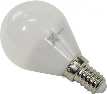 Лампа X-FLASH XF-E14-P45-P-5W-3000K-12V Шар. E14. 3000К. 380лм.X6 x flash лампа led x flash xf e14 fl сa35 4w 2700k 230v арт 48823