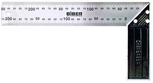 Угольник BIBER 40630 столярный профи 300мм нержавеющая сталь гравировка столярный угольник 300х150 мм fit it профи 19544
