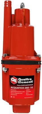 Вибрационный насос QUATTRO ELEMENTI Acquatico 260-10 260Вт 1080 л/ч для чистой 60м кабель10м 32кг насос погружной quattro elementi acquatico 250