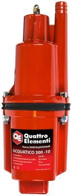 Вибрационный насос QUATTRO ELEMENTI Acquatico 300-10 300Вт 1200л/ч для чистой 70м кабель10м 32кг насос quattro elementi acquatico 260