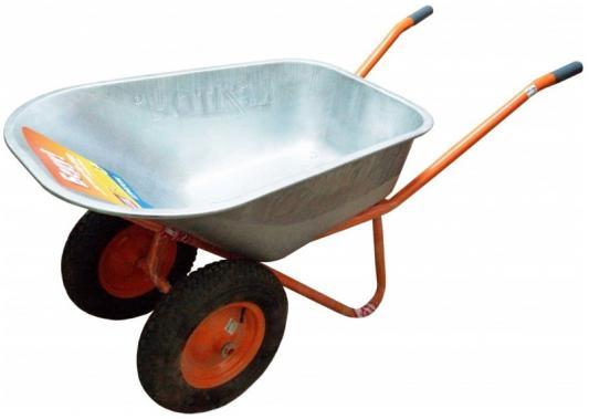 Тачка строительная усиленная КРАТОН WB-250D Грузоподъемность 250 кг / Объем 110 л /Тип колеса пневм цена