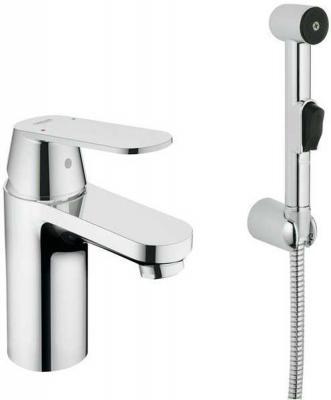 Смеситель для раковины GROHE EUROSMART COSMOPOLITAN 23125000 с гигиеническим душем,хром смеситель для ванны с душем grohe eurosmart cosmopolitan 32831000 хром
