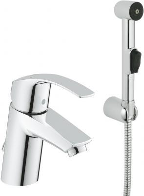 Смеситель для раковины GROHE EUROSMART 23124002 однорычажный цепочка гиг.душ настенный смеситель для раковины grohe eurosmart new 23124002