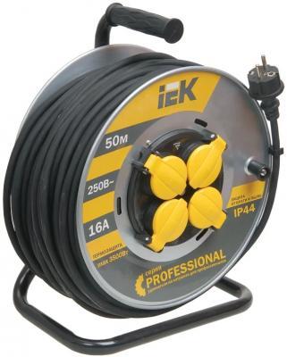 Удлинитель IEK УК50 Industrial 50 м 4 розетки удлинитель iek ук40 40m 4 socket wkp23 10 04 40