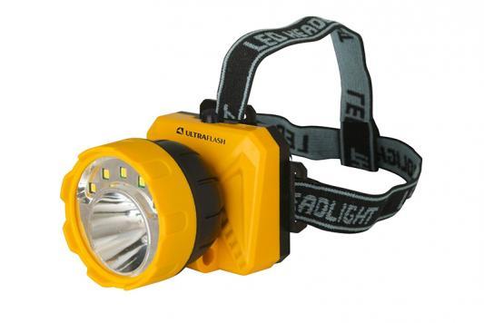 Фонарь налобный Ultraflash LED5372 чёрный желтый фонарь ultraflash led5374