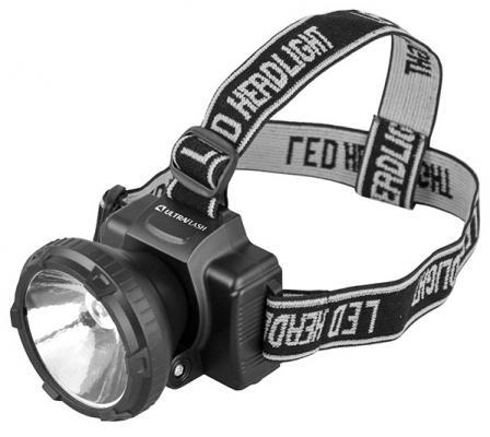 Фонарь ULTRAFLASH LED5364 налобн аккум 220в черный 0.5 ватт led 2 реж пласт бокс
