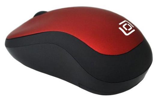 Мышь беспроводная Oklick 655MW чёрный красный USB мышь oklick 575sw красный