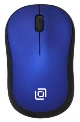 Мышь беспроводная Oklick 655MW чёрный синий USB