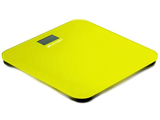 все цены на Весы напольные KITFORT КТ-804-4 жёлтый онлайн