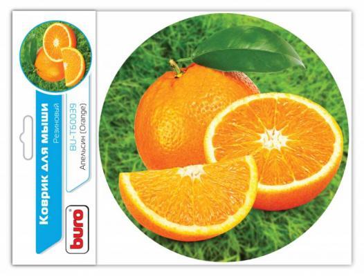 Коврик для мыши Buro BU-T60039 рисунок/апельсин [350569] (Бюрократ) Абакан аксессуары на компьютер
