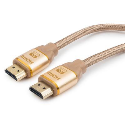 Кабель HDMI 4.5м Cablexpert CC-G-HDMI03-4.5M круглый золотистый (CC-G-HDMI03) кабель hdmi 1 8м cablexpert cc s hdmi03 1 8м круглый черный cc s hdmi03