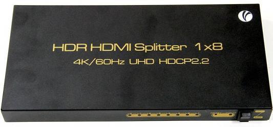 Фото - VCOM DD428 Разветвитель HDMI Spliitter 1=>8 2.0v. разветвитель hdmi spliitter 1 4 3d full hd vcom 1 4v [vds8040d] каскадируемый сплиттер на 4 монитора телевизора
