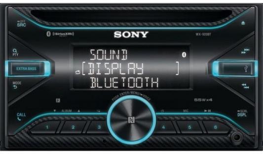 Автомагнитола CD Sony WX-920BT 2DIN 4x55Вт usb автомагнитола sony dsx a212ui q