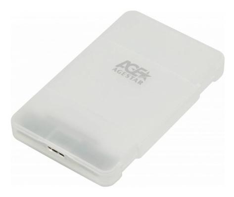 Внешний корпус для HDD/SSD AgeStar 3UBCP1-6G SATA пластик белый 2.5 аксессуар agestar docking station 3ubt6 6g black