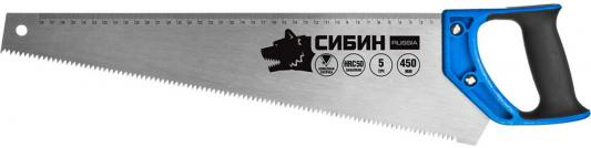 Ножовка по дереву (пила) СИБИН 450 мм, шаг 5 TPI (4,5 мм) [15055-45] стоимость