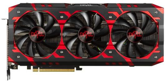 Видеокарта PowerColor Radeon RX Vega 64 Red Devil RX VEGA 64 8GB HBM2 PCI-E 8192Mb 2048 Bit Retail (AXRX VEGA 64 8GBHBM2-2D2H/OC) видеокарта sapphire radeon rx vega 56 11276 01 40g pci e 8192mb 2048 bit retail