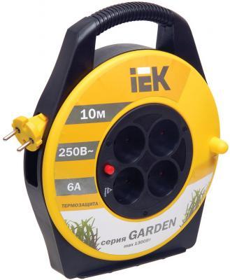 Удлинитель IEK WKP23-06-04-10 10 м 4 розетки удлинитель iek ук40 40m 4 socket wkp23 10 04 40