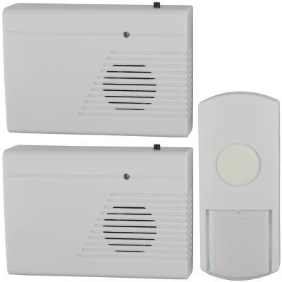 Звонок дверной беспроводной Эра C27-2 белый светодиодный беспроводной перезвон дверной звонок дверной звонок