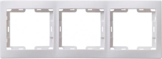 Iek EMK30-K01-DM РГ-3-КБ Рамка 3местн. горизонт. КВАРТА (белый)
