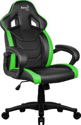 Кресло для геймера Aerocool AC60C AIR-BG , черно-зеленое, до 150кг, ШxГxВ : 65x74x113/120 см, газлифт 80 мм, механизм бабочка корпус aerocool p7 c1 bg