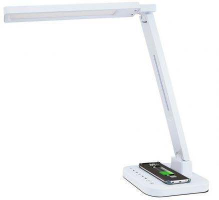 Светильник настольный Lucia Smart Qi (L900-W) на подставке белый 15Вт настольный led светильник lucia julia l521 белый 4606400511380