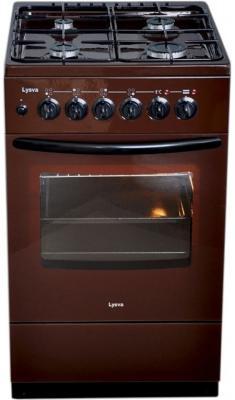 Газовая плита Лысьва ГП 400 МС-2У коричневый газовая плита лысьва гп 400 м2с 2у газовая духовка белый