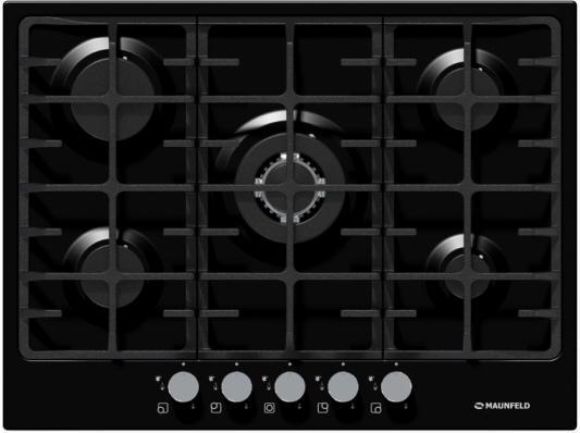 все цены на Варочная панель газовая Maunfeld MGHE.75.78B черный онлайн