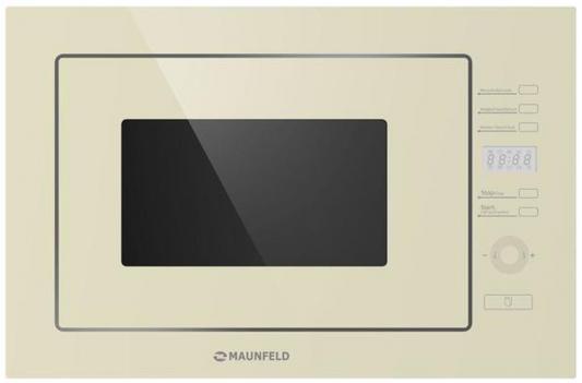 Встраиваемая микроволновая печь Maunfeld MBMO.25.7GBG 900 Вт бежевый микроволновая печь bbk 23mws 927m w 900 вт белый