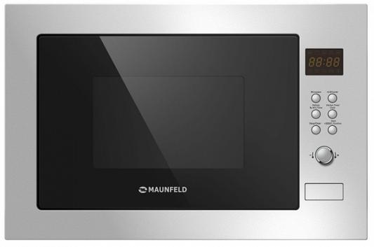 Встраиваемая микроволновая печь Maunfeld MBMO.25.8S 900 Вт серебристый микроволновая печь bbk 23mws 927m w 900 вт белый
