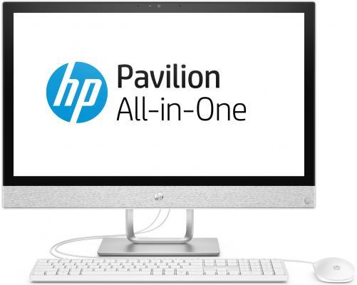 Моноблок 23.8 HP Pavilion 24-r110ur 1920 x 1080 Intel Core i7-8700T 6Gb 1 Tb Intel UHD Graphics 630 DOS белый 4GM46EA 4GM46EA sheli laptop motherboard for hp pavilion dv6000 434722 001 pm945 non integrated graphics card 100% tested