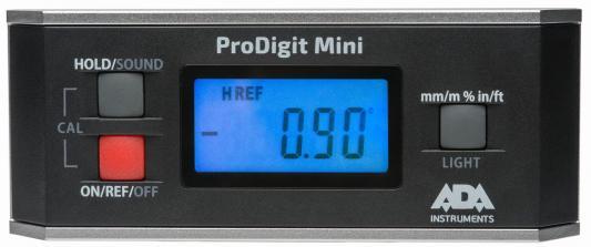 Уровень электронный ADA ProDigit Mini цифровой,точность±0.02град,автоматическая калибровка,магниты,ч