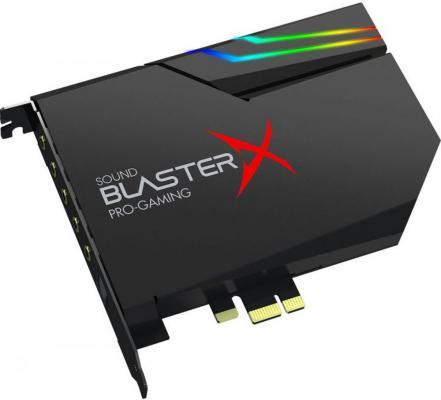 Звуковая карта Creative PCI-E BlasterX AE-5 (BlasterX Acoustic Engine) 5.1 Ret звуковая карта pci e x1 asus xonar ae 7 1 ret