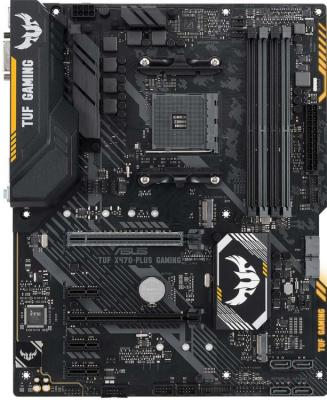 Материнская плата ASUS TUF X470-PLUS GAMING Socket AM4 AMD X470 4xDDR4 2xPCI-E 16x 3xPCI-E 1x 6 ATX Retail TUF X470-PLUS GAMING материнская плата gigabyte ga ax370 gaming 3 socket am4 amd x370 4xddr4 3xpci e 16x 2xpci e 1x 6xsataiii atx retail