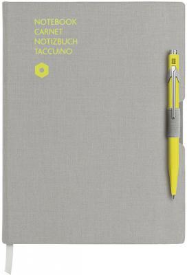 Записная книжка Carandache Office (8491.401) серый A5 192стр. в линейку компл.:ручка шариковая 849 желтый