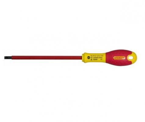 Отвертка STANLEY FATMAX 0-65-413 электрика 1000V 5,5*150мм отвертка диэлектрическая крестовая stanley fatmax 0 65 414