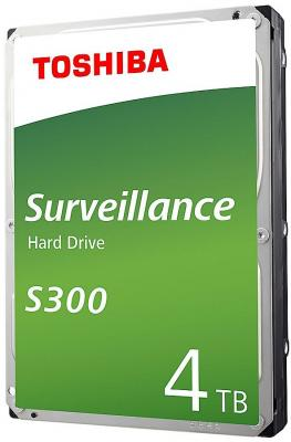 Жесткий диск Toshiba SATA-III 4Tb HDWT140UZSVA Surveillance S300 (5400rpm) 128Mb 3.5 жесткий диск toshiba 4 tb hdwt140uzsva серебристый