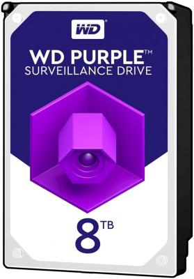 Жесткий диск WD Original SATA-III 8Tb WD81PURZ Purple (5400rpm) 256Mb 3.5""