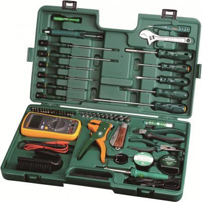 Набор инструментов SATA 09535 53пр. для электротехнических работ пласт. кейс. набор инструментов sata 56пр 09509