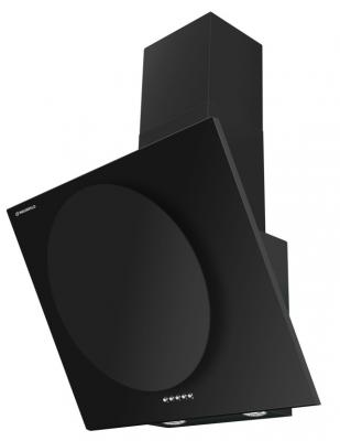 Вытяжка подвесная Maunfeld TOWER CIRCLE 60 BLACK GLASS BLACK черный кухонная вытяжка maunfeld tower gs 90 black