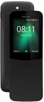 Мобильный телефон NOKIA 8110 4G черный мобильный телефон sop 4g m6