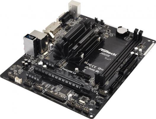 Материнская плата ASRock J4005M с процессором Intel 2xDDR4 1xPCI-E 16x 2xPCI-E 1x 2 mATX J4005M материнская плата asrock j3455b itx с процессором intel 2xddr3 1xpci e 16x 2 mini itx