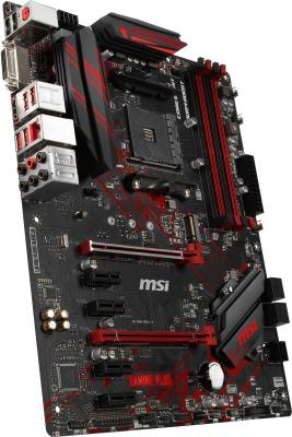 Материнская плата MSI B450 GAMING PLUS Socket AM4 AMD B450 4xDDR4 2xPCI-E 16x 4xPCI-E 1x 6 ATX Retail материнская плата msi z370 gaming plus msi socket 1151 v2 z370 4xddr4 2xpci e 16x 4xpci e 1x 6 atx retail