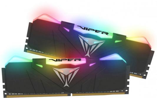 Оперативная память 16Gb (2x8Gb) PC4-25600 3200MHz DDR4 DIMM CL16 Patriot PVR416G320C6K модуль памяти patriot memory ddr4 dimm 3200mhz pc4 25600 cl16 16gb kit 2x8gb pvr416g320c6k